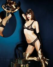 Agent Provocateur GINA BRA & BRIEF in BLACK TULLE & GOLD - 36E /AP Size 4 - BNWT