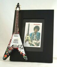 JIMI HENDRIX  Miniature Guitar Frame Flying Vee