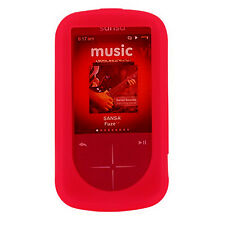 NEW Red Silicone Skin for SanDisk Sansa Fuze Plus+ Case MP3 Fuse+ Cover Holder