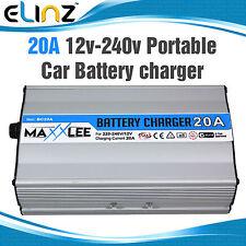 20A Power Portable Car Battery Charger Boat Caravan Motorcycle 12v-240v 20AMP AU