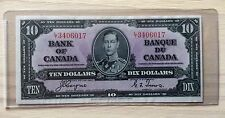 Canada 1937 $10 Dollar Bank Note Canadian Ten Dollar Bill L/T 3406017 - No Tax
