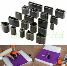 39 Styles Metal Hollow Hole Die Punches Leather Craft Rectangle Oblong 39 Shapes