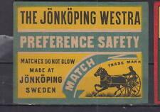 Ancienne étiquette paquet allumettes Suède AZ4284 Trotteur  Cheval