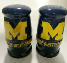 Michigan Wolverines University Ceramic College Salt & Pepper Shakers