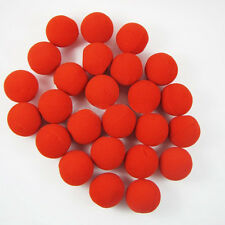50pcs Fun Red Sponge Clown Noses for Circus Halloween Carnival Party Costume