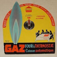 Ancien DISQUE : TEMPS de CUISSON au GAZ avec Four à Thermostat Vintage Ed SDIG