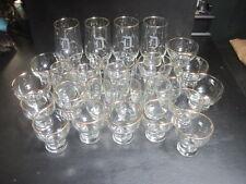 """Vintage  """"D"""" Monogram  Set of 28 Gold Rimmed Glasses Glassware"""