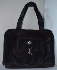 Vintage No Boundaries Black Computer Bag Purse Leather