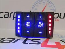FORD MONDEO MK3 04-07 BLUE & RED LED HEATED & COOLED SEAT SWITCH + FREE UK POST