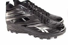 NIB Reebok Pro Workhorse NFL Mid AT 16 Black on Black Football Cleats