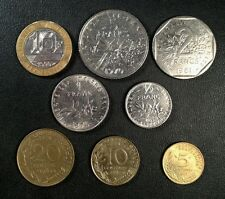 France Coin Lot - Full Set of Pre-Euro French Coins - Free Shipping!!!!