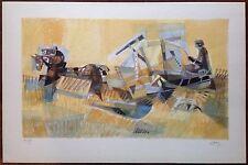 Georges Dayez lithographie couleur signée numérotée La moisson Cubisme