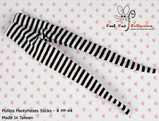 ☆╮Cool Cat╭☆【PP-44】Pullip Pantyhoses Doll Socks # Think Stripe B+W