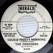 CONCORDS Cold & Frosty Morning Don't Go Now WHITE LABEL PROMO doowop 45 w5533