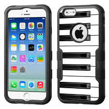 3-Layer Hybrid Case (Blk/Blk/TF) for Apple iPhone 6 / 6s - Piano B/W