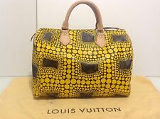 Authentic Louis Vuitton Speedy 30 By Yayoi Kusama Yellow Dot Mono. Ex Cond