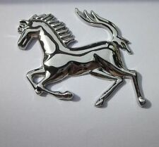 1× Silver 3D Metal Sticker Running Horse Decal Badge Emblem Car Decor Cool
