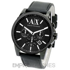 *NEW* MENS ARMANI EXCHANGE BANKS BLACK CHRONO WATCH - AX2098 - RRP £165.00