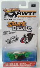 """Hot Wheels Stunt Devils """"Bad to The Blade"""" 1:64 Scale Spin Out Car"""