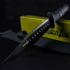 "12"" TACTICAL FIXED BLADE Machete SURVIVAL KNIFE Hunting Army Military w/ SHEATH"