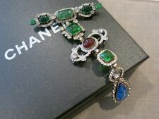 Authentic Vintage-Old Chanel from 1984 Gripoix Glass Brooch