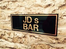 PERSONALISED BAR FATHERS DAY ANY NAME SIGN BBQ GARDEN PUB HOME BAR XMAS GIFT