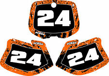 KTM Number Plate Backgrounds Graphics 93-97 125 200 250 380 400 350 EXC SX MXC