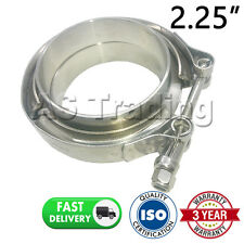 "V-BAND CLAMP + FLANGES COMPLETE STAINLESS STEEL EXHAUST TURBO HOSE 2.25"" 57mm"