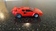 Tyco ho slot car    red lamborgini