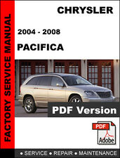 CHRYSLER PACIFICA 2004 2005 2006 2007 2008 FACTORY SERVICE REPAIR OEM MANUAL