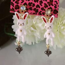 NEW Charm Betsey Johnson Beautiful Crystal Cartoon Rabbit Alloy Earring BJEA019