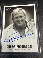 2015 Leaf Legends of Sport Greg Norman On card auto Autograph 1960 Signatures SP