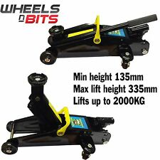NEW Car Van 4x4 2 Ton Tonne 2000Kg Hydraulic Lifting Trolley Floor Jack & Case