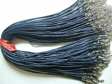 10 x Waxed Cotton Choker Necklace Cords Chains 1.5mm For Pendants Necklace