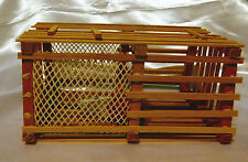 Miniature Wooden Nautical Decor Lobster Trap Buoy Net New