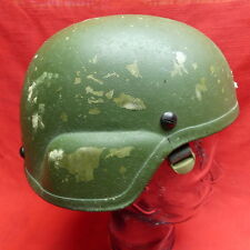 ACH MICH USED Helmet by SDS size LARGE NEW PADS  NEW Chinstrap LG# 97   GREEN