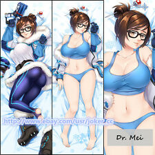 Hot Game Overwatch Dr. Mei Ling Sexy Dakimakura Hugging Body Pillow Case Cover