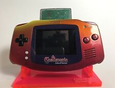 Castlevania Custom GBA Nintendo Game Boy Advance - RED Fire Orange w/ Stand!!