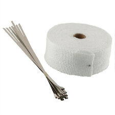 MANIFOLD EXHAUST HEAT WRAP TAPE WHITE 10M ROLL & STAINLESS TIES BLACK FRIDAY