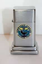 Vintage ZIPPO Barcroft Table Lighter - US Navy Commander Carrier Division Four