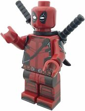 Lego Minfigure Deadpool With Free Printed Lego Tile and Collectable Card