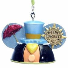 Disney Parks Jiminy Cricket Ear Hat Ornament - First Park Pack Edition 1st NIB