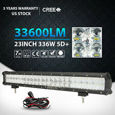 "5D CREE 23INCH/24"" 336W LED LIGHT BAR COMBO OFFROAD 4WD TRUCK BOAT UTE DRIVING"