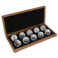 2016 10-Coin Silver 1 oz Around the World Bullion Set BU - SKU #95692