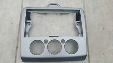 FORD FOCUS MK2 05-10 FRONT CENTRE CONSOLE RADIO HEATER DASH TRIM SURROUND SILVER