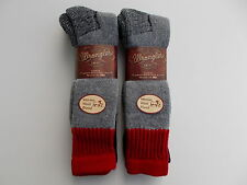 Wrangler Made In USA Merino Wool Blend Over The Calf Socks Size 10-13 4 Pairs