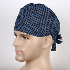 Men's Doctors Skull Scrub Cap Medical Surgery Surgical Cap Netting Print Hat