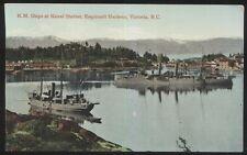 Postcard ESQUIMALT HARBOUR CANADA  H.M. Naval Station Ships view 1907?