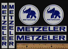 METZELER Motorcycle Tire STICKERS Decal BMW TRIUMPH DUCATI HONDA SUZUKI YAMAHA