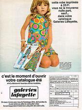 PUBLICITE  1969   CATALOGUE  GALERIES LAFAYETTES
